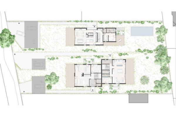 Wohnanlage BWS Erdgeschoss mit Umgebung Buch41